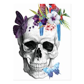 Wellcoda Skull Death Paradise Bad Tropical Postcard