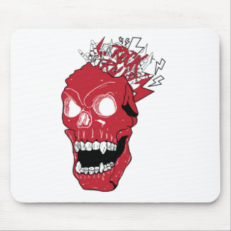 Wellcoda Skull Rock&Roll Music Scalp Head Mouse Pad