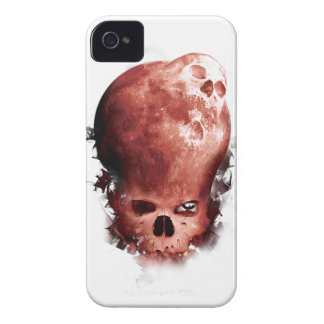 Wellcoda Skull Scary Moon Face Apocalypse iPhone 4 Case-Mate Cases