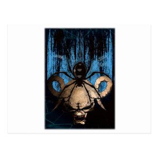 Wellcoda Skull Scary Spider Evil Horror Postcard