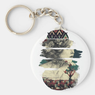 Wellcoda Statue Of Rome Print History Basic Round Button Key Ring
