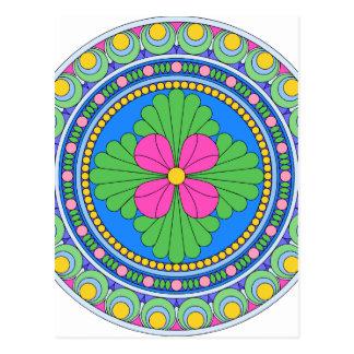 Wellcoda Style Indian Pattern Collect Fun Postcard