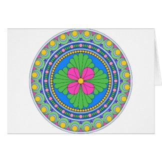 Wellcoda Style Indian Pattern Ornament Fun Greeting Card