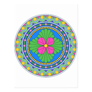 Wellcoda Style Indian Pattern Ornament Fun Postcard