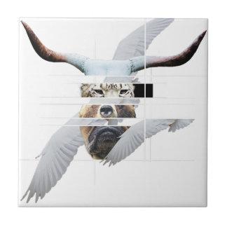 Wellcoda Tiger Bear Dog Face Weird Beast Tile