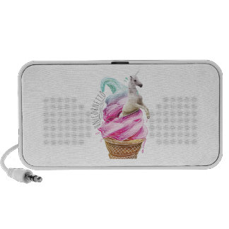 Wellcoda Unicorn Ice Cream Fun Myth Love Mp3 Speaker