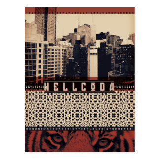 Wellcoda Urban Tiger City Life Wild Cat Postcard