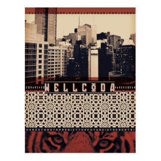 Wellcoda Urban Tiger City Life Wild Cat Postcard