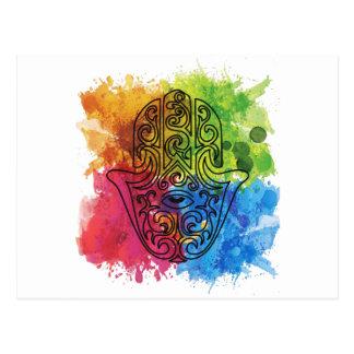 Wellcoda Vibrant Indian Symbol Asian Life Postcard