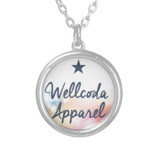 Wellcoda Vintage Apparel Star Dream Land Silver Plated Necklace