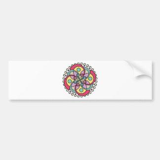 Wellcoda Wicked Flower Style Crazy Look Bumper Sticker