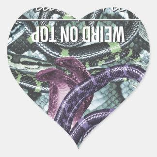 Wellcoda Wild At Heart Snakes Cobra Venom Heart Sticker