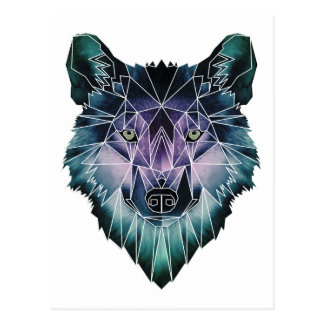 Wellcoda Wild Wolf Face Pack Animal Life Postcard