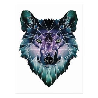 Wellcoda Wild Wolf Face Pack Animal Life Postcard