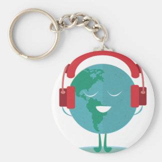 Wellcoda World Beats Music Global Tune Key Ring