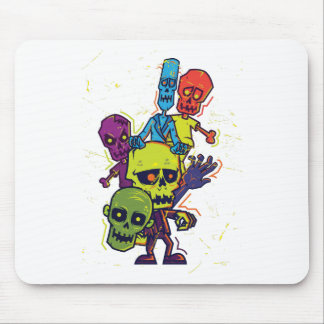 Wellcoda Zombie Apocalypse Monster Family Mouse Pad