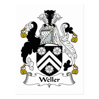 Weller Family Crest Postcard