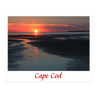 Wellfleet Bay sunset, Cape Cod Postcard