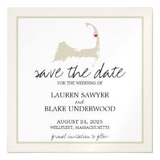 Wellfleet Cape Cod Wedding Save the Date Magnetic Invitations
