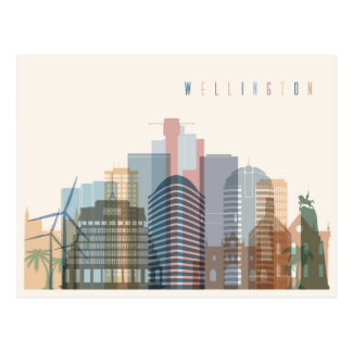 Wellington, New Zealand | City Skyline Postcard