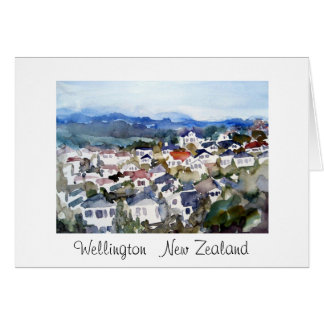 Wellington New Zealand Greeting Card