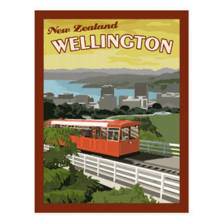 Wellington New Zealand - Vintage Travel Postcard