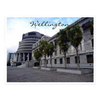 wellington parliament buildings postcard