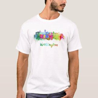 Wellington skyline in watercolor T-Shirt