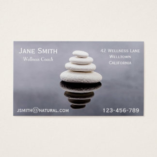 Wellness Coach Zen stones Business Card