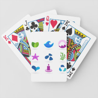 WELLNESS CUTE ART ICONS BICYCLE PLAYING CARDS