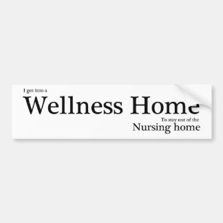 Wellness Home Bumper Sticker