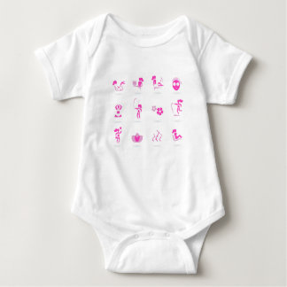 Wellness icons pink baby bodysuit