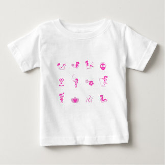Wellness icons pink on white baby T-Shirt