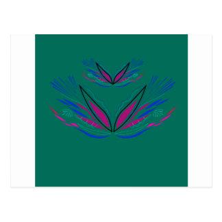 Wellness mandala Green eco Postcard