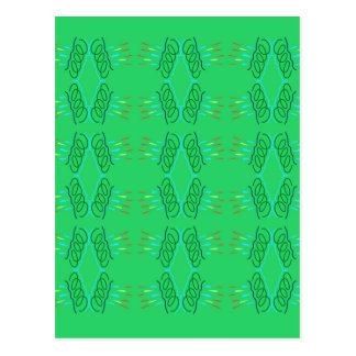Wellness mandalas Green eco Postcard