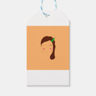 Wellness woman asia on gold gift tags
