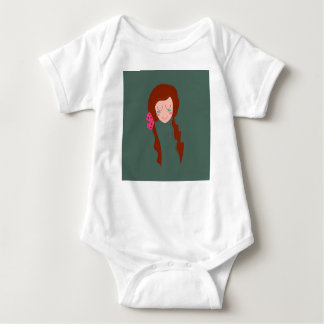 WELLNESS WOMAN Long hair Eco green Baby Bodysuit