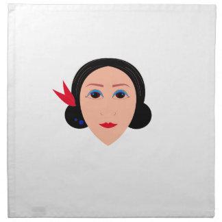 Wellness woman on white napkin