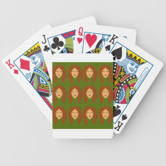 Wellness women / on olive bg bicycle playing cards
