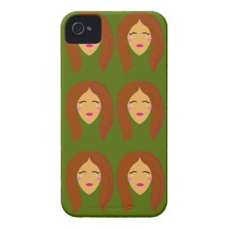 Wellness women / on olive bg iPhone 4 case