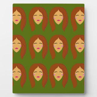Wellness women / on olive bg plaque