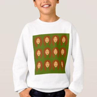 Wellness women / on olive bg sweatshirt