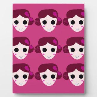 Wellness women pink plaque