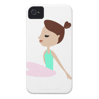 Wellness  yoga woman on white iPhone 4 Case-Mate case