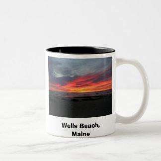 Wells Beach Maine 9-05, Wells Beach, Maine , Se... Two-Tone Coffee Mug