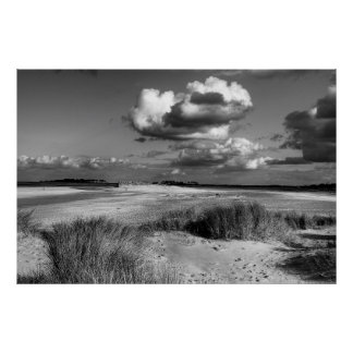 Wells-next-the Sea beach in Monochrome Poster