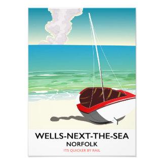 Wells-next-the-Sea Norfolk Beach travel poster Art Photo