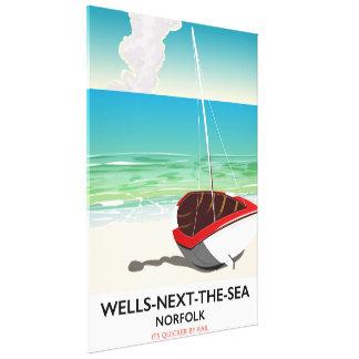Wells-next-the-Sea Norfolk Beach travel poster Canvas Print