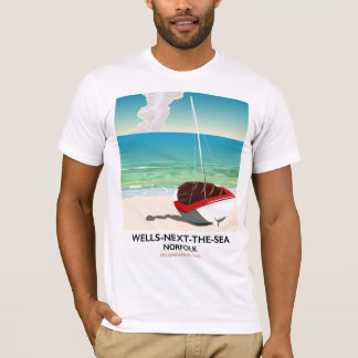 Wells-next-the-Sea Norfolk Beach travel poster T-Shirt