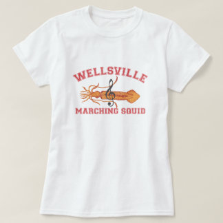 Wellsville Marching Squid Funny Retro Pop Culture T-Shirt